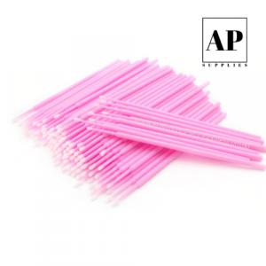 Ultra Fine Micro Brushes – Pink (100 pcs)