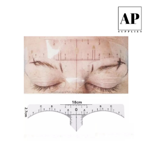 Clear Eyebrow Measurement Sticker (50 pcs)
