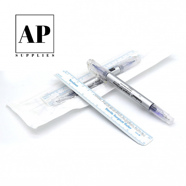 Sterile Surgical Skin Marker with Sterile Surgical Ruler (0.5mm & 1.0mm tips)
