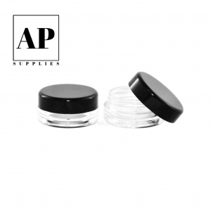 Aftercare Jars 5ml – Empty with Black Lid (25 pcs)