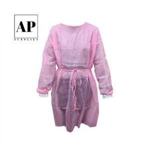 Disposable Full Sleeve Cosmetic Tattoo Gown – Light Pink (single)