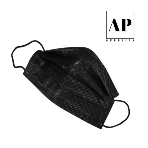 disposable face mask black