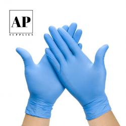 disposable nitrile gloves blue