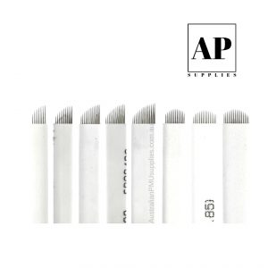Microblading Blades – Assorted Sizes – White (Individually Packaged)