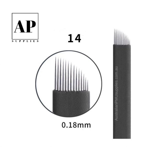 Microblading Blades – Assorted Sizes – Black (Individually Packaged)